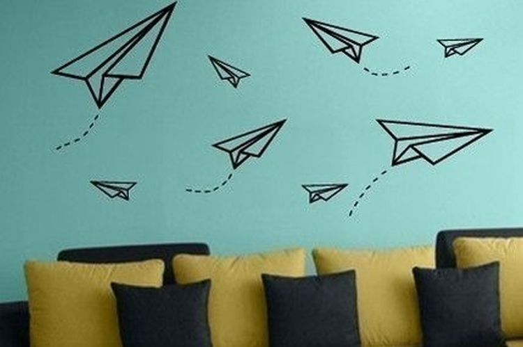 washi tape en pared