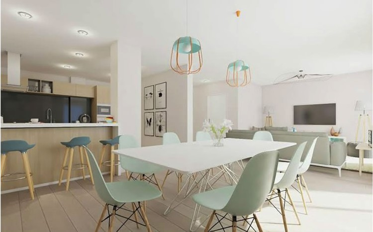 home staging virtual en comedor