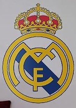 Mural con escudo Real Madrid