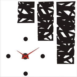 Reloj de pared y vinilo decorativo