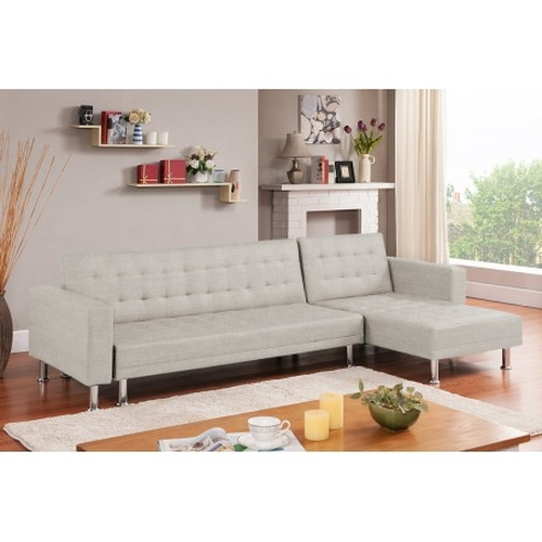 Sofa Chaise longue cama Vogue tela beige