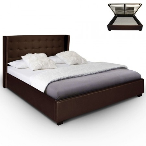 Cama canap rabat 140 cm marr n for Canape low cost