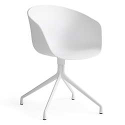 Silla AAC20 Base Giratoria/Blanco