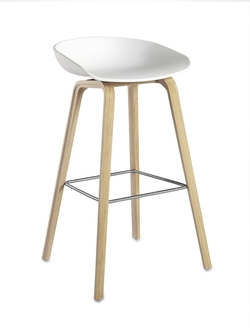 About Stool AAS32 Roble/Blanco