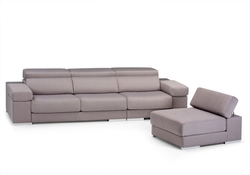 Sofá 3 plazas con chaise loungue partida