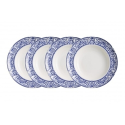 SET de 4 platos hondos decorados: Vajilla Imperio