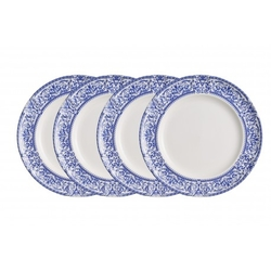 SET de 4 platos llanos decorados: Vajilla Imperio