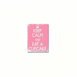 "Cuadro ""Keep Calm"" color rosa"