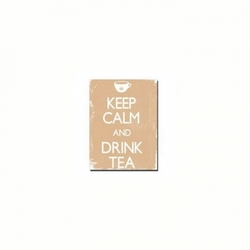 "Cuadro ""Keep Calm"" color beige"