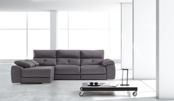 Sofa de tres plazas y chasie loungue