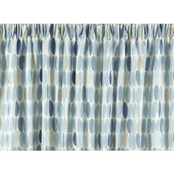 cortinas confeccionadas wallace azul mar