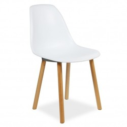Silla Eames Tower Wood New Style Blanco