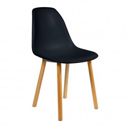 Silla Eames Tower Wood New Style Negro