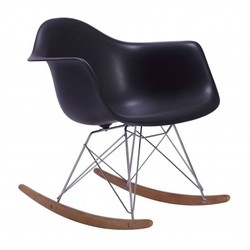 Mecedora eames Tower Arms Negro Inspiración RAR Rocking Chair de Charles & Ray Eames