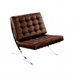 Silla Barcelona -Limited Edition--Piel chocolate Inspiración Barcelona Chair de Mies Van de Rohe