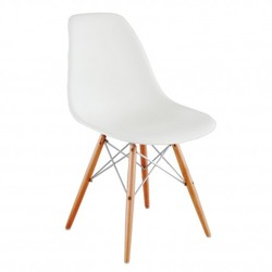 Silla Eames CHROME edition blanca