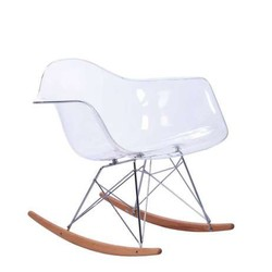 Mecedora Eames Arms Transparente Inspiración RAR Rocking Chair de Charles & Ray Eames