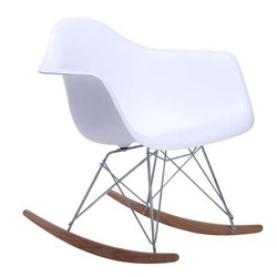 Mecedora eames Tower Arms Blanco Inspiración RAR Rocking Chair de Charles & Ray Eames