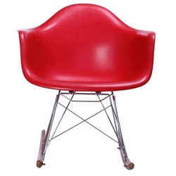 Mecedora eames Tower Arms Rojo Inspiración RAR Rocking Chair de Charles & Ray Eames