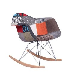 Mecedora eames Tower Arms Patchwork Inspiración RAR Rocking Chair de Charles & Ray Eames