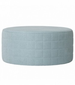 Pouf, Light Blue Polyester Mix Ø71xH33 cm