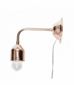 Wall lamp, copper, small