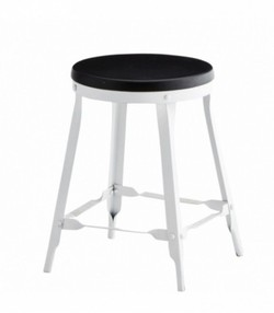 Stool, black / white