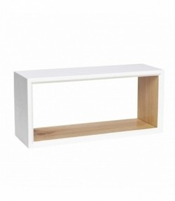Book case, square, white/nature