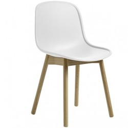 Neu13 chair, white/matt lacquered ash