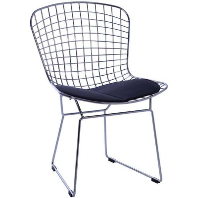 Silla BERTOIA -Chrome Edition--cojin_blanco