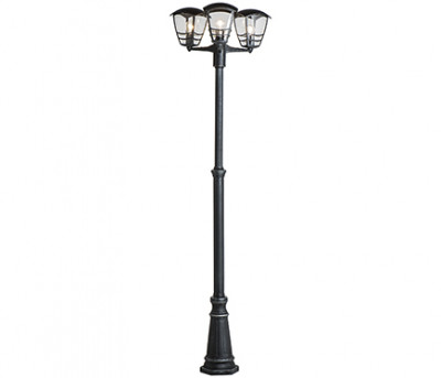 Farola 3 luces Philips STREAM NEGRO
