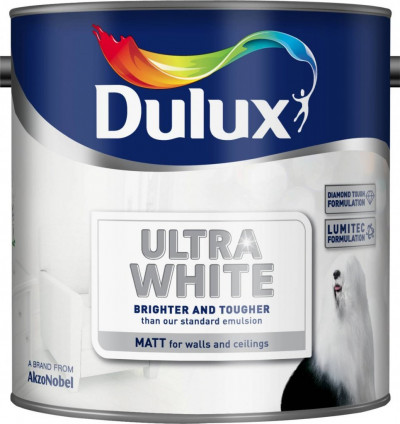 PINTURA mate,5 L, color blanco