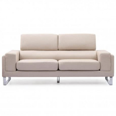 Sofa-barth 3 plazas tela-beige