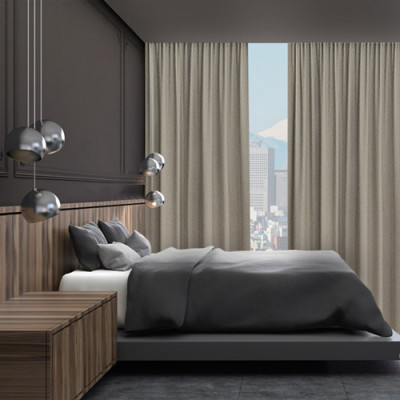 Cortinas Hotel Black Out Rubí color Beige