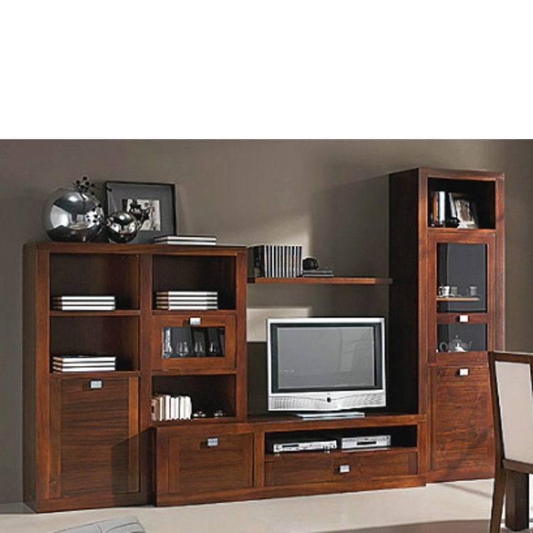 Muebles de tv madera maciza nogal for Muebles nogal americano