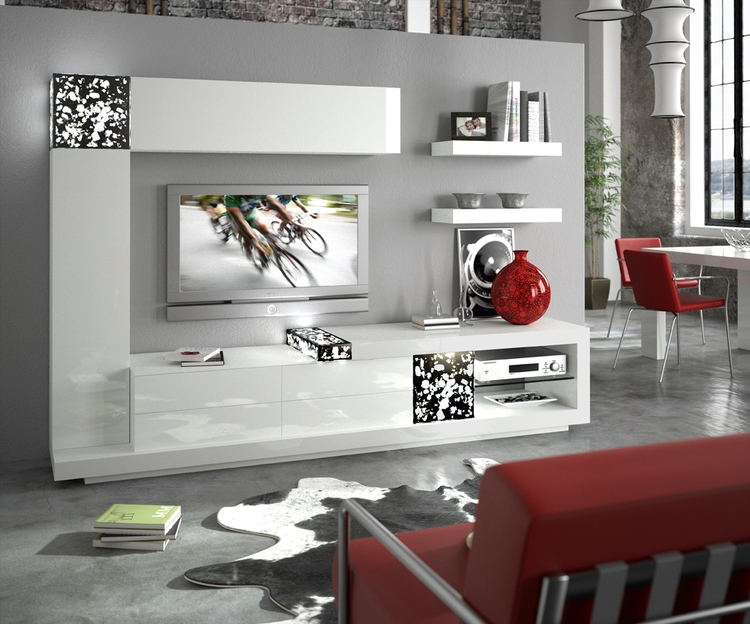 salon decorado Rojo y blanco