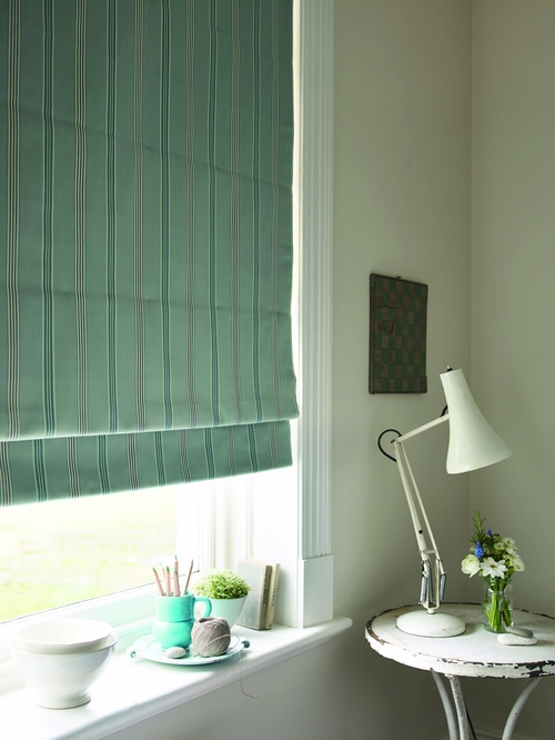 Country Stripe bedroom blind detail