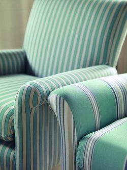 Country Stripe summer house chair detail