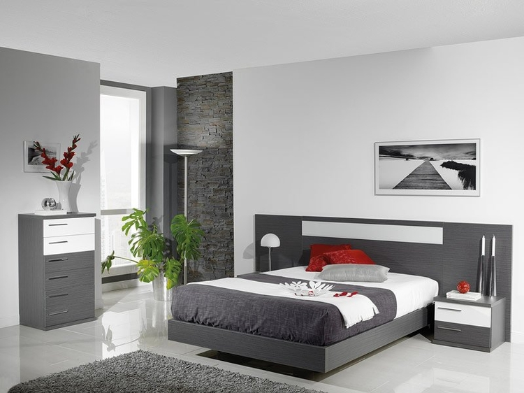 dormitorio gris y blanco tom s