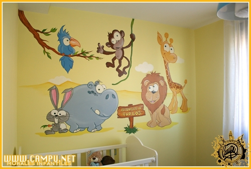 decoración habitación infantil animalitos