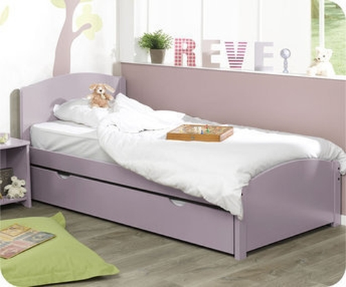 Pack cama NATURE Lila +Colchón AirFresh+Somier