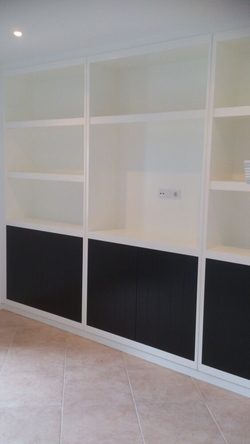 Mueble salon lacado blanco satinado