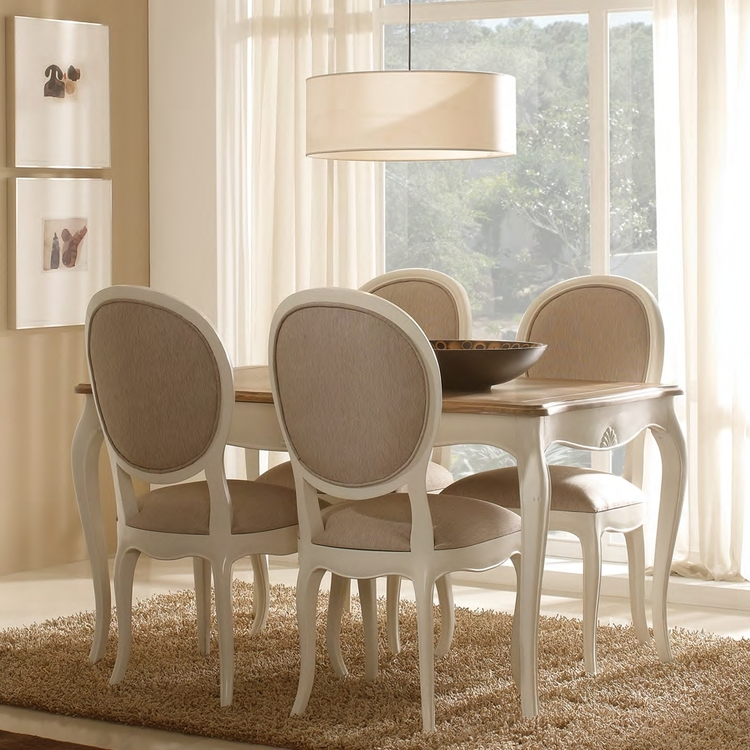 Comedor Provenzal Paris mesa extensible bicolor Demarques.es