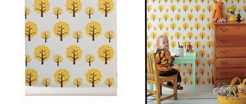 Papel de pared Dotty Yellow