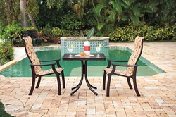 CASA BRUNO SET COMEDOR ST. CATHERINE ALU MGP PADDED SLING MAHOGANY WILLOW