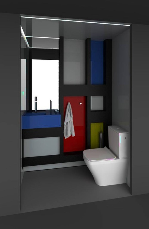 Mondrian powder room