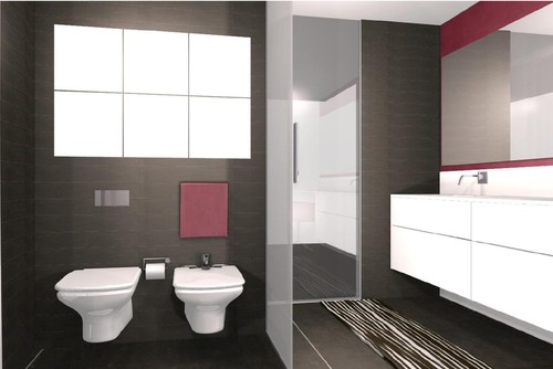 baño contemporáneo