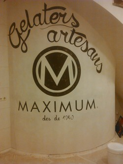 mural gelateria MAXIMUM